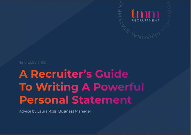 A Recruiter's Guide To Writing A Powerful Personal Statement